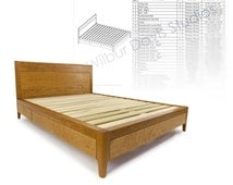 Furniture Plan Drawing for King Size Storage Bed - Platform Bed No. 2 Measured Drawing and Cut List