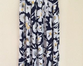 Vintage 1980's Floral Midi Skirt