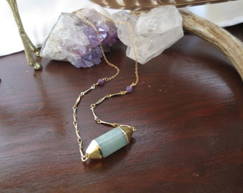 Green Aventurine Necklace Short Necklace Crystal Jewelry