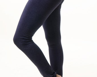 Dark blue super-soft stretch leggins