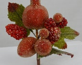 Beaded Pomegranate Berry Cluster(lot of 4)