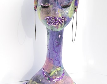NuQ Purple Haze - Custom Luxe DecoArt Mannequin Head