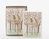 Tree House - Box Set of 10 Greeting Cards with Envelopes - 5 Designs