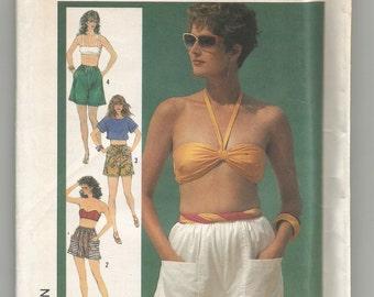 UNCUT 7519 Simplicity Sewing Pattern Shorts Size 10 12 14 Vintage 1980s