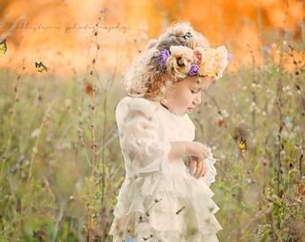 Flower Girl Country Chic Lace dress, Flower Girl Dresses, Country Chic Flower Girl dresses, Lace Flower Girl dresses
