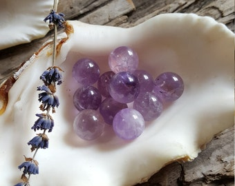 Amethyst Marbles or Crystal Balls | Crystal Orbs for Metaphysical Healing Supplies | Perfect for Wire Wrapping | Pagan Wicca Occult Magic