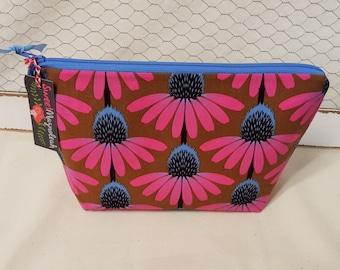 Cosmetic bag, MAkeup bag, Travel bag, Floral