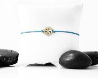 Lotus Flower, Yoga Bracelet, Lotus Charm, Lotus Bracelet, Gold Lotus, Lotus Flower Bracelet, Friendship Bracelet, b247cBR