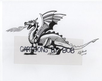 Pendragon --  Cartoon Art --  Print 8 x 10 --  Limited Edition --  Signed and Numbered
