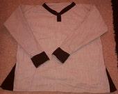 Cream/brown Linen Viking Tunic