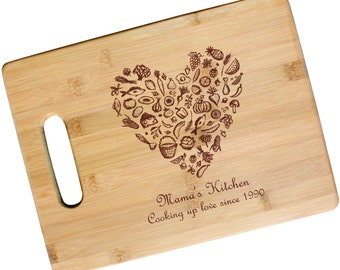 SHIPS FAST, Personalized Mothers Day Cutting Board, Mothers Day Gift, Gift for Mom, Custom Mother's Day Gift for Her, Mothers Day, JS19