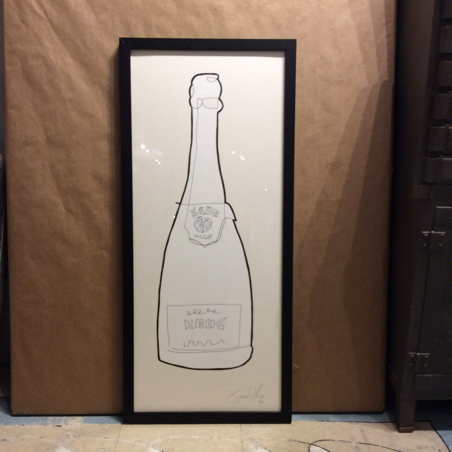 Wedding Gift Nyc Amount : Champagne art painting anniversary gift wedding gift Krug