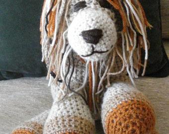"Crocheted lion stuffed animal doll  toy ""Lance"""