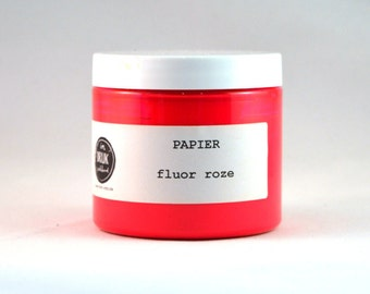 Screen printing ink paper, neon pink
