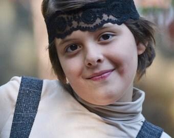 Black headband,  boho headband, lace  bohemian headband,  baby headband, vintage headband, lace headwrap,  baby head wraps, girl birthday