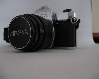 Honeywell PENTAX Sp 1000 Slr Camera with ZEISS JUPITER 9 Portrait Black Russian 85mm F/2 Lens Zenit M42 Mount s/n 8722880