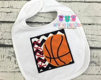 Baby Boy Basketball Bib - Personalized baby Bib - Baby boy Bib with name