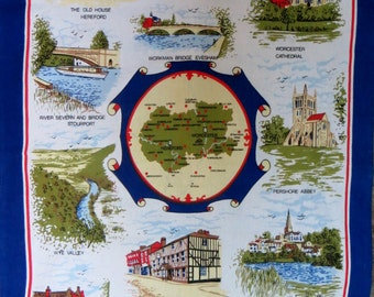 Hereford and Worcester Tea Towel - FREE POSTAGE