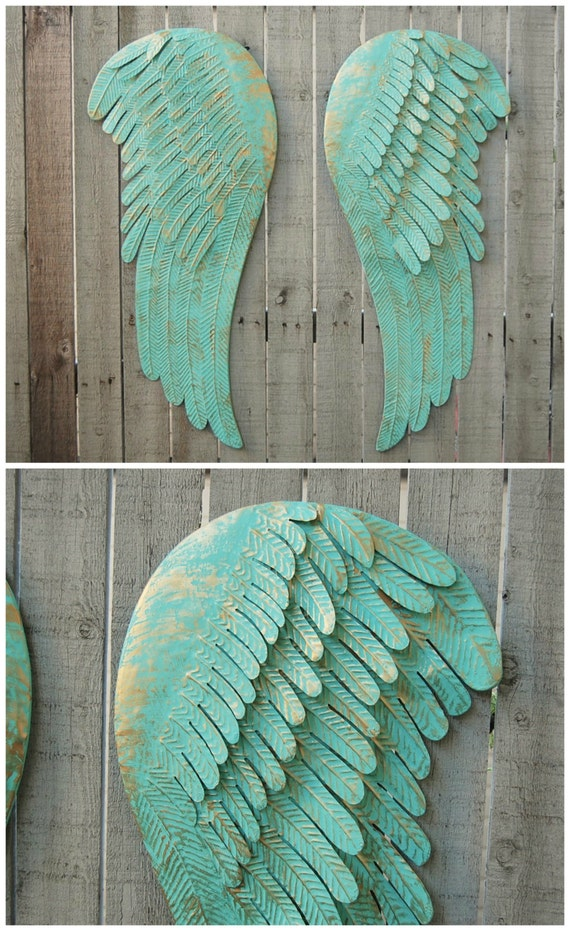 Large Angel Wings Wall Decor Shabby Chic By Thevintageartistry