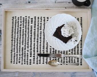 Ottoman Tray - Coffe Table Tray - Minimal Modern Scandinavian Design - Geometric Home Decor - Decorative Tray - Housewarming Gift