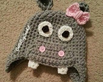 Crochet Baby Hippo Hat