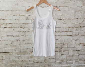Bride Tank Top. Bride Shirt. Bride to be Tank Top. Bachelorette Party. Bride. Bridesmaid . Wedding Bridal Party. He Put A Ring On It