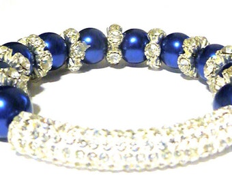 Royal Blue Rhinestone Bracelet