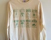 Garden T-Shirt, Kale Shirt, Food Shirt, Screen Printed T Shirt, Long Sleeve, Vegetable Shirt