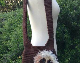 Sloth Purse - Sloth Bag - Shoulder Bag - Crochet Animal Purse - Sloth Handbag