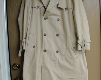 Christian Dior Monsieur size 42 Large mens trench coat jacket fully lined Paris New York