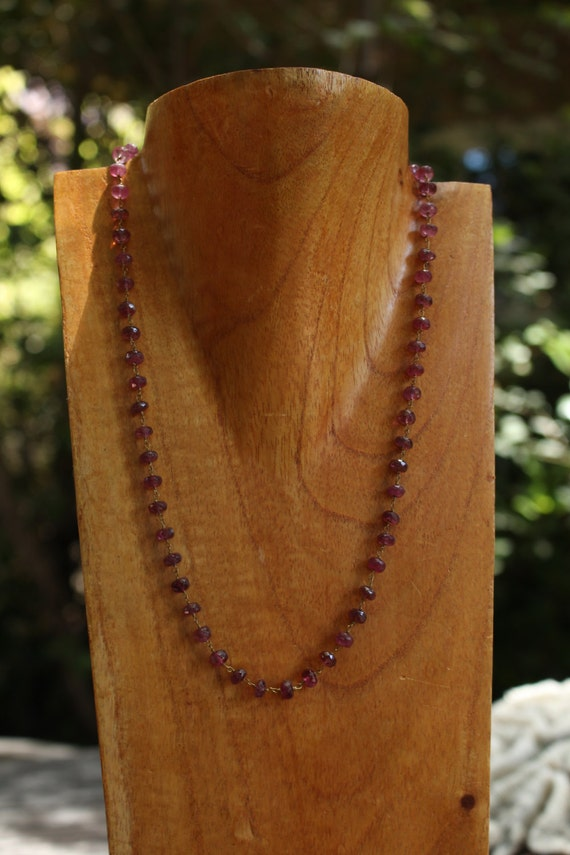 Red Tourmaline Chain