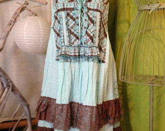 All Shabby T 44-46 dress and panty turquoise and taupe