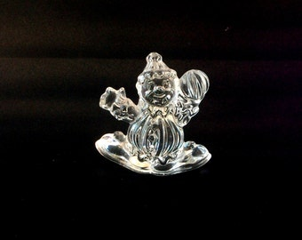 Princess House Crystal Clown 1980's 24 Lead Crystal