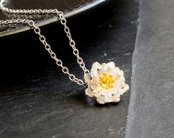 Flower necklace - 925 Sterling Silver Edition