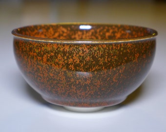 Kaki tianmu bowl, porcelain