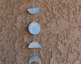 Baby Blue Moon Phase Wall Hanging (Boho Baby)