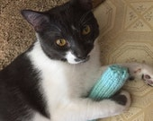Knitted Alpaca Kitty Kickers, Soft Cat Toys, Pick a Color, Optional Crinkle, Catnip, Valerian