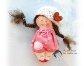 Baby doll. Doll brooch. Pocket doll. Miniature toy