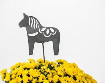 SALE Dala Horse Scandinavian Garden Art Stake