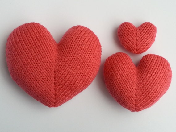 Knitting Hearts Together : Love hearts knitting pattern from squibblybups on etsy studio