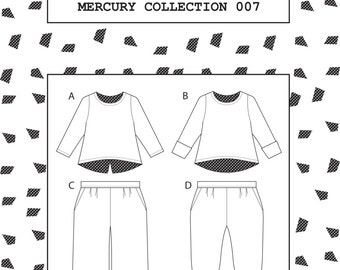 PDF Mercury collection sewing pattern