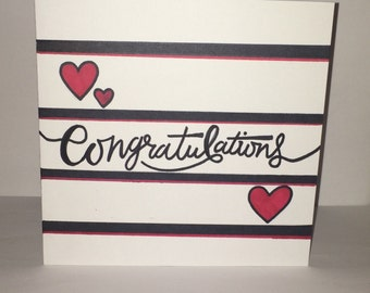 Congratulations Handmade Handrawn Card Nautical Theme