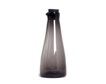 Maple syrup jar - Gray blown glass maple syrup jar, salad dressing jar