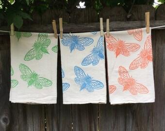 Cicadas Flour Sack Tea Towel