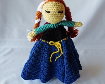 Princess Anna Inspired Lovey/Security Blanket
