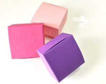 Purple_Pink _Light Pink Wedding Favor Boxes_ Pastel Rustic Favor_Multicoloured Favor Boxes_Jewelry Gift Box_ Choose Color_Your Wedding Color