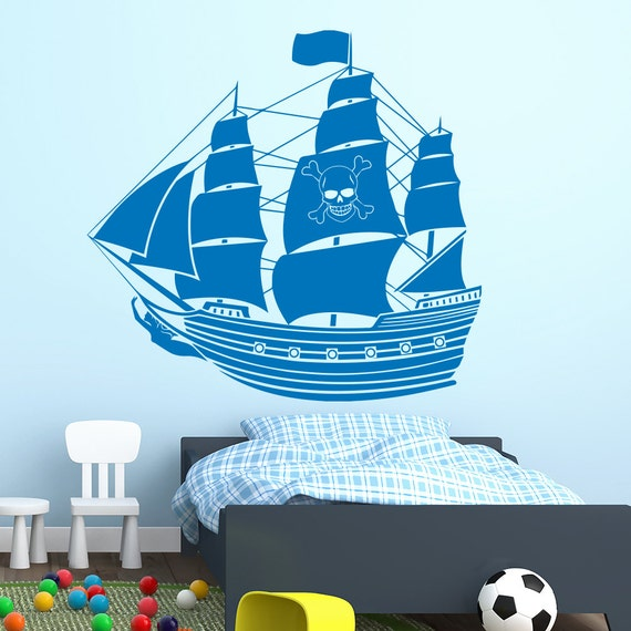 pirate ship wall decals boat decal vinyl stickers by cartoon boats wall sticker wall stickers