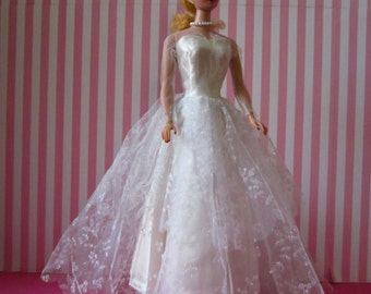 Vintage Barbie #942 Wedding Day (1959) Gown Dress Excellent Condition (No Doll) Lovely!