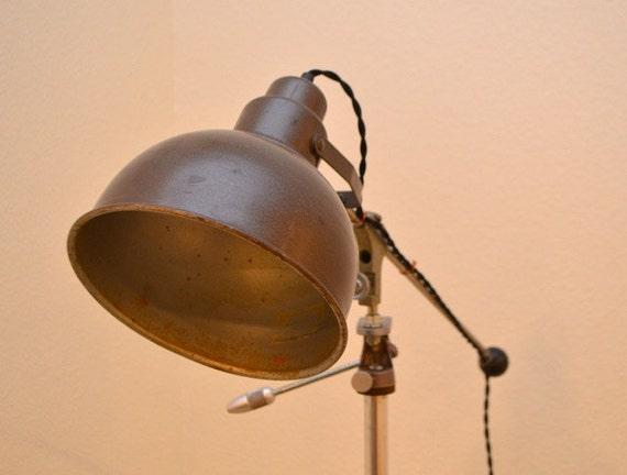 vintage industrial tripod floor lamp industrial lighting. Black Bedroom Furniture Sets. Home Design Ideas