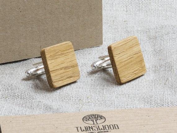 Oak Wood Cufflinks. Personalized Cuff Links. Laser Engraved Monogrammed Initial Wooden Cufflinks. Сustom cufflinks. Groomsmen Gift. Xmas